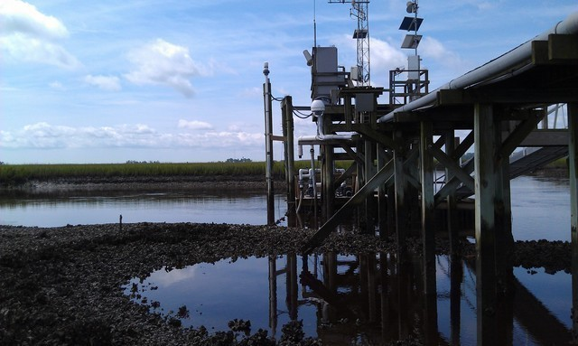 Photo of station #8662245, Oyster Landing (N Inlet Estuary), SC