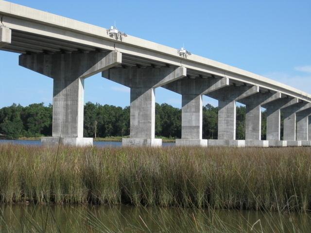 Photo of station #8735523, East Fowl River Bridge, AL