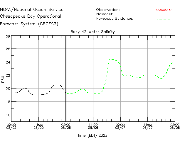 Buoy 42 Salinity Time Series Plot