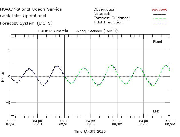 Seldovia Currents Times Series Plot