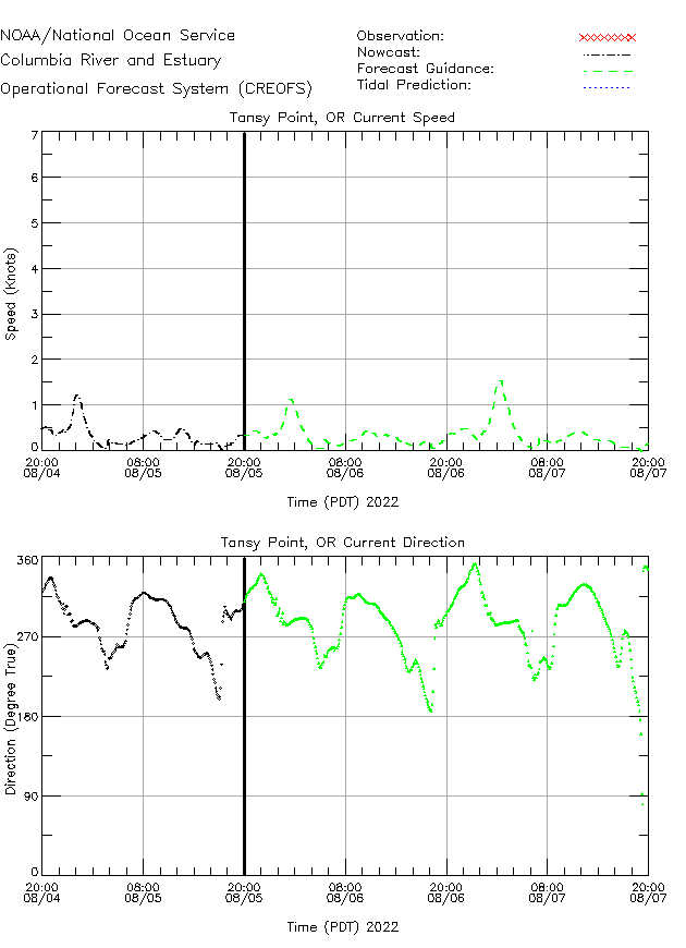 Tansy Point Currents Times Series Plot