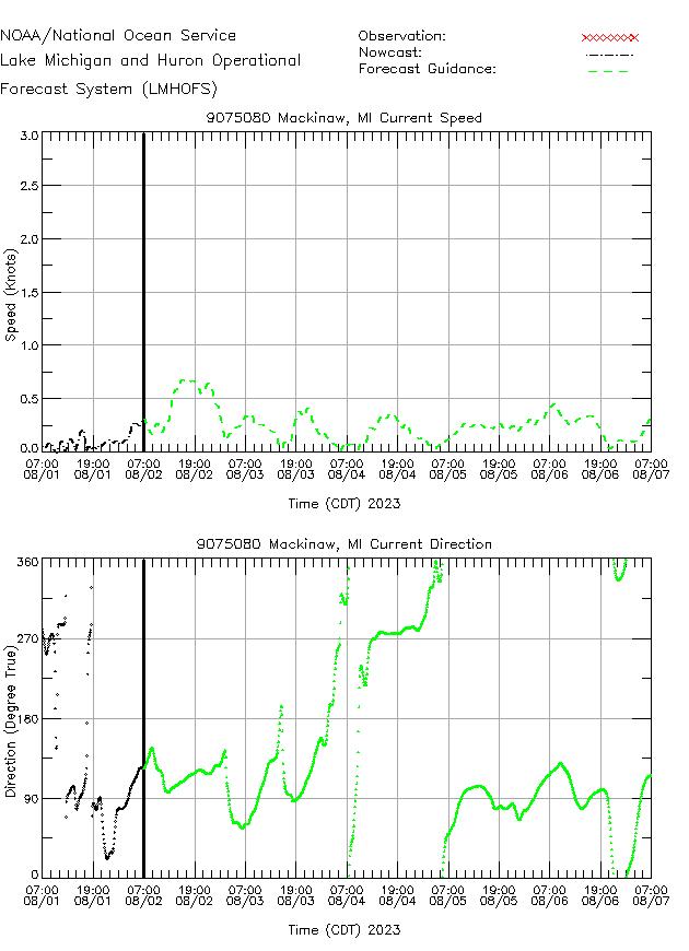 Mackinaw Currents Times Series Plot