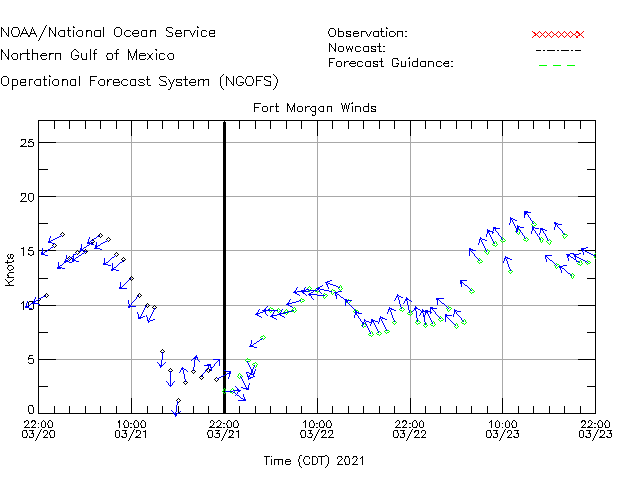 Fort Morgan Winds Time Series Plot