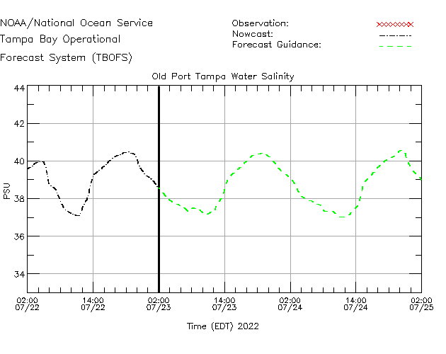 Old Port Tampa Salinity Time Series Plot