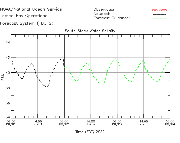 South Stack Salinity Time Series Plot